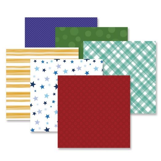Creative Memories mix and match scrapbook paper - Fresh Fusion Bold pack