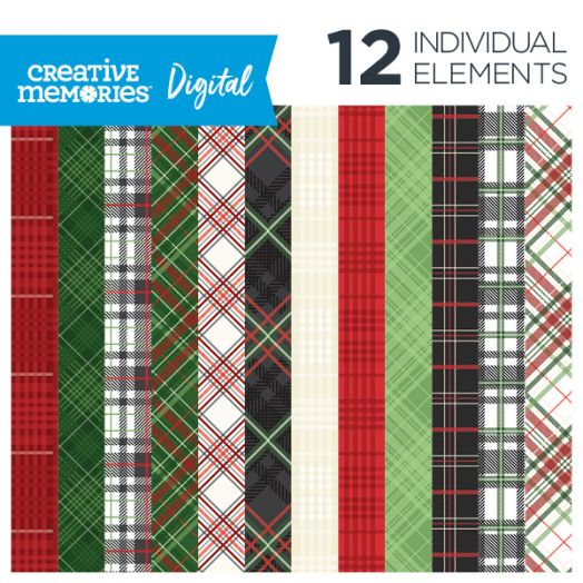 Creative Memories Festive Plaid digital paper - D657498