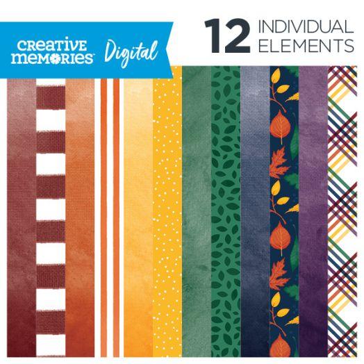 Creative Memories Rainbow Rush Soft Digital Scrapbook Paper