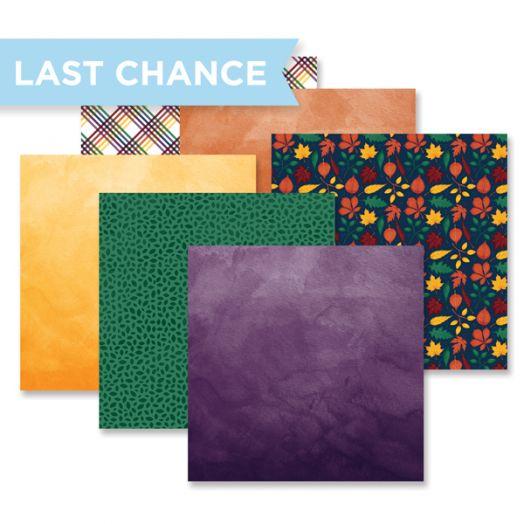 Creative Memories Rainbow Rush Bold mix and match scrapbook paper pack