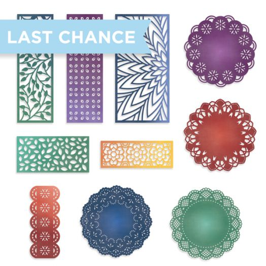 Creative Memories Rainbow Rush laser-cut die cuts for scrapbooking borders
