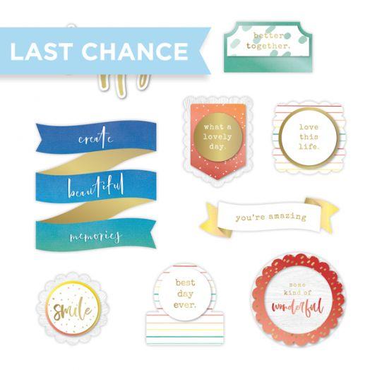 Creative Memories Rainbow Rush Layered scrapbook titles embellishments