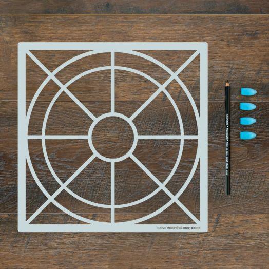 Creative Memories scrapbook stencil kit - Slices of Life Recipe Template