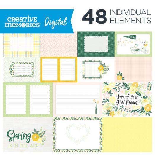 Simply Sunshine Spring Digital Scrapbook Mat Pack - D656918
