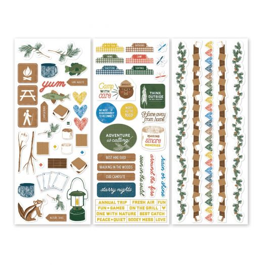 Creative Memories Smore Memories camping themed scrapbook stickers