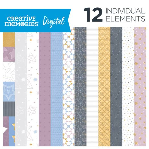 Creative Memories Digital Starlight Paper Pack