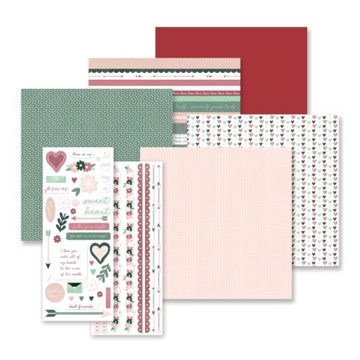 DIY Valentines Kit: Sweetheart Theme Pack -Creative Memories
