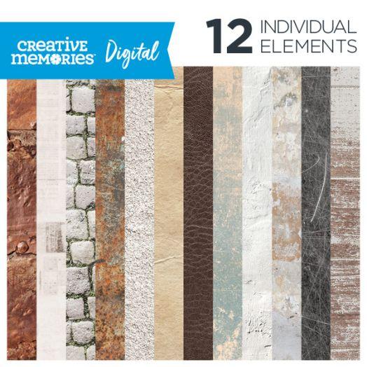 Creative Memories Timeworn Texture digital vintage paper pack