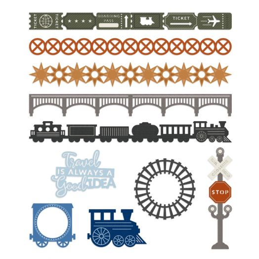 Creative Memories train decorations for scrapbooking