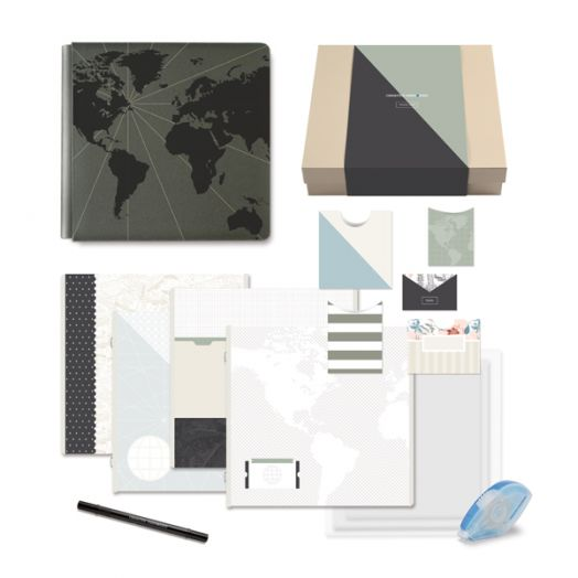 Creative Memories Travel Log Gift Box for a travel album - 657033