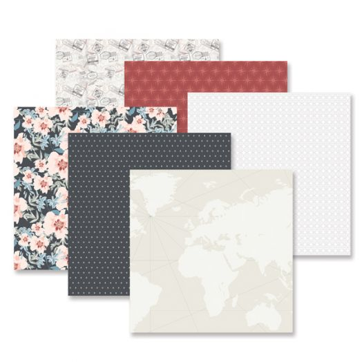 Creative Memories Travel Log travel scrapbook paper - 657041