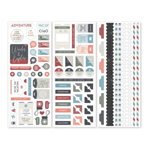 Creative Memories Travel Log travel scrapbook stickers - 657045
