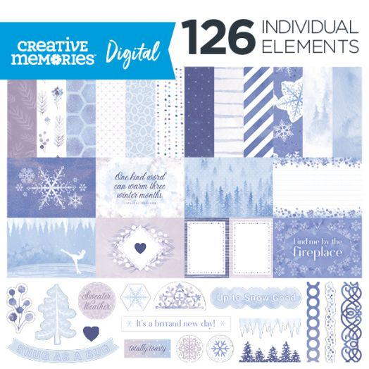 Creative Memories Winterberry Winter Digital Scrapbooking Kit - D657616